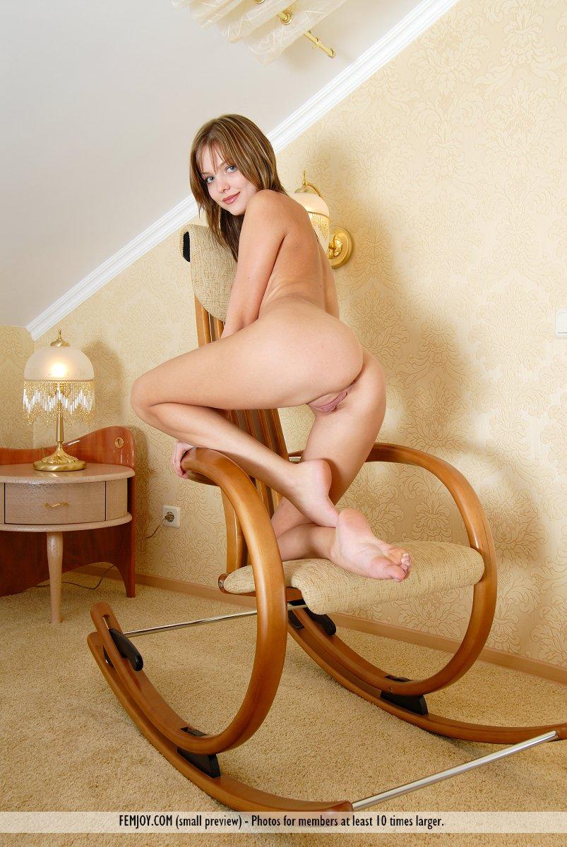 Секс в кресло качалка