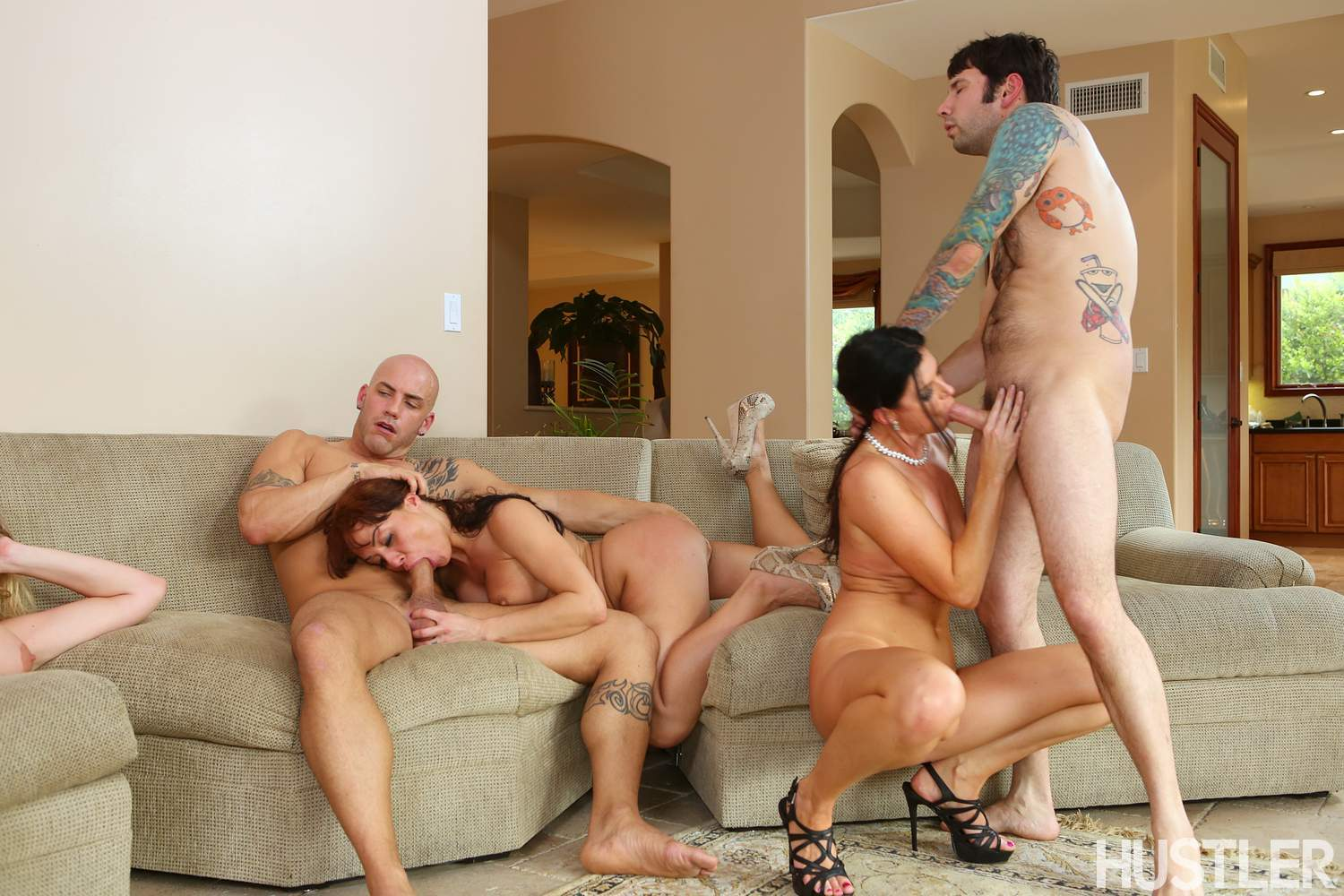 Housewife orgy for porn