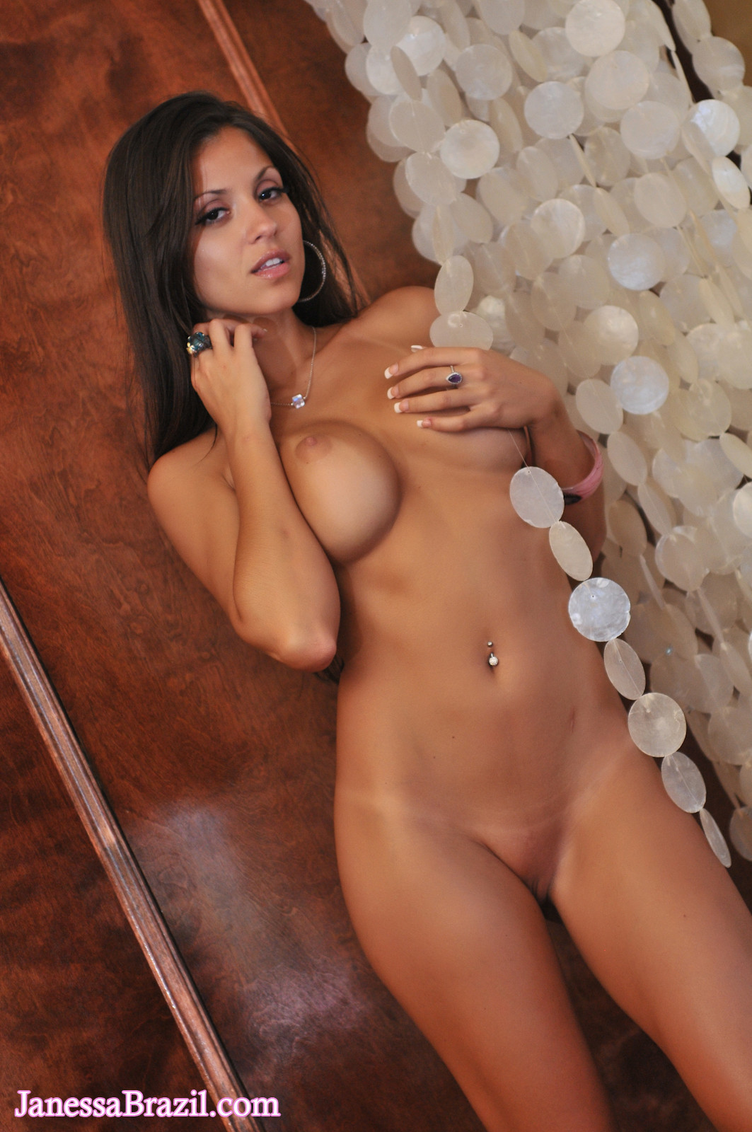 Janessa Brazil - Hot College Girl Getting Naked At The Bar -7834