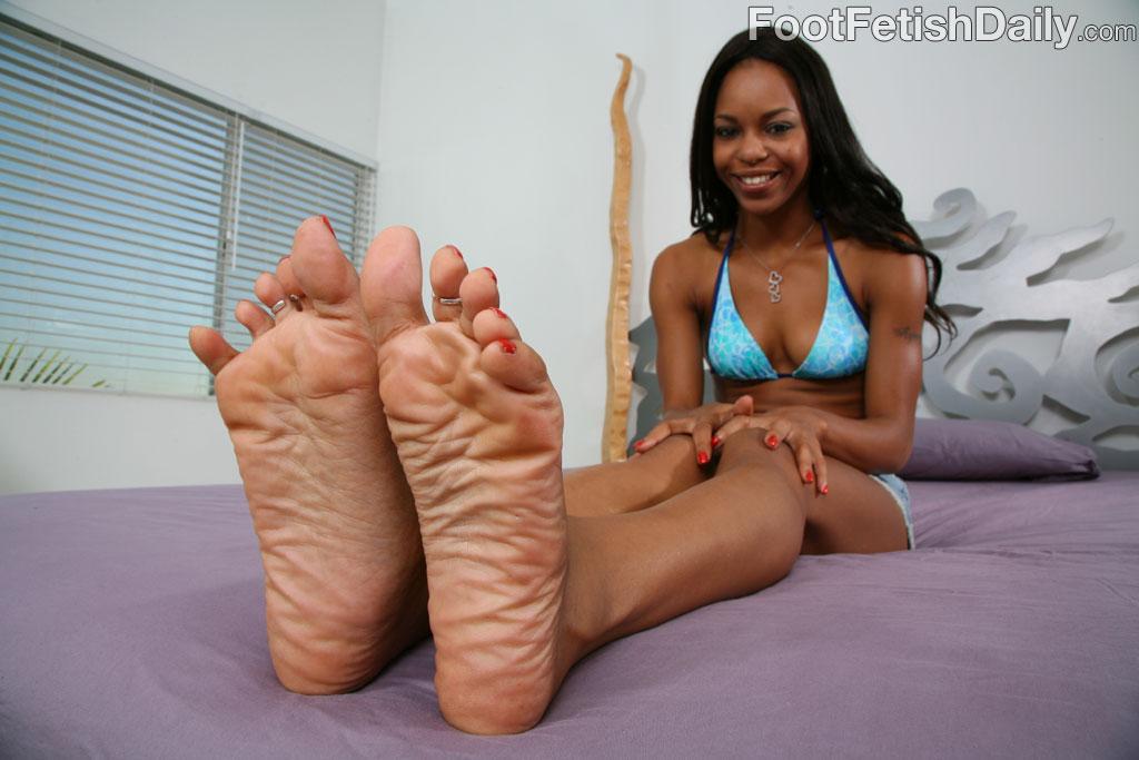 Ebony Footjob Handjob Blowjob