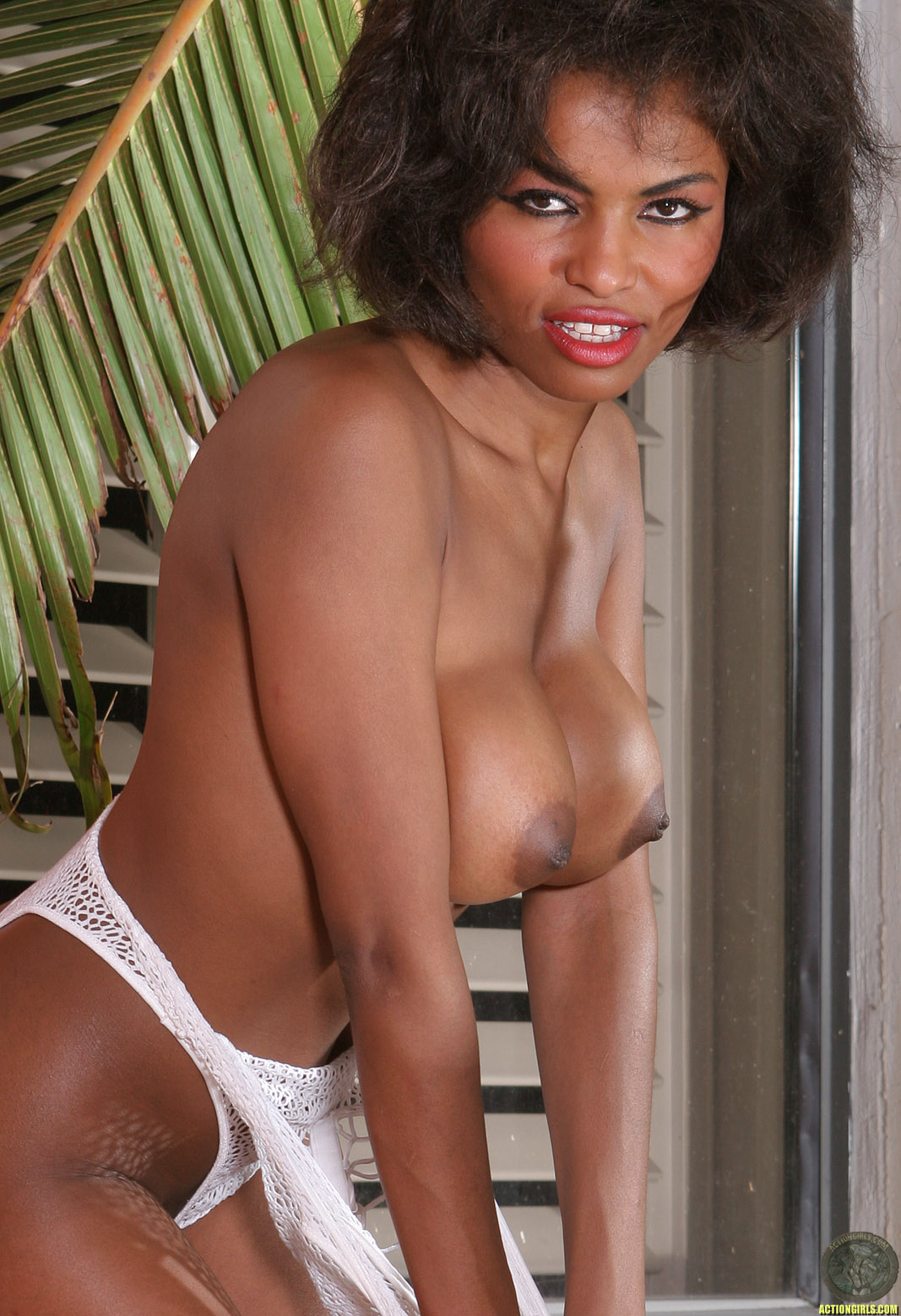 image Hot ebony monique taking care on four cocks2