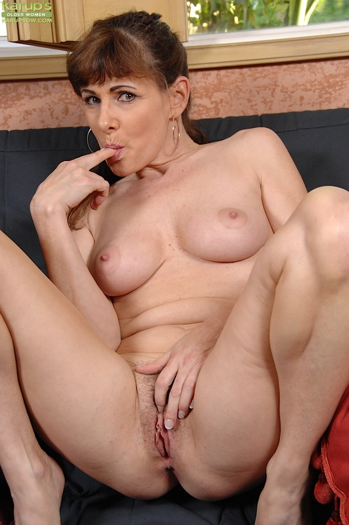 Luba Shows Her Silky Ass And Her Hairy Older Pussy Hole