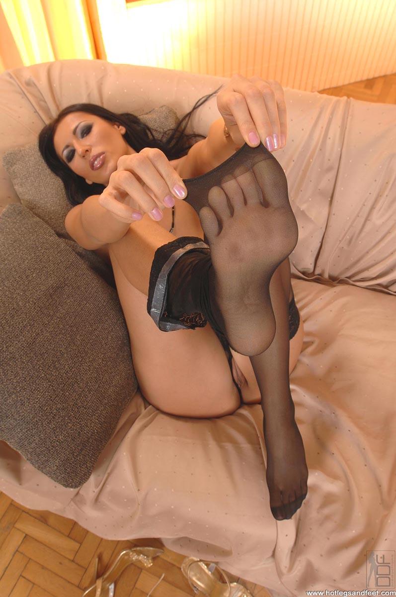 Black fetish foot girl stocking — photo 4