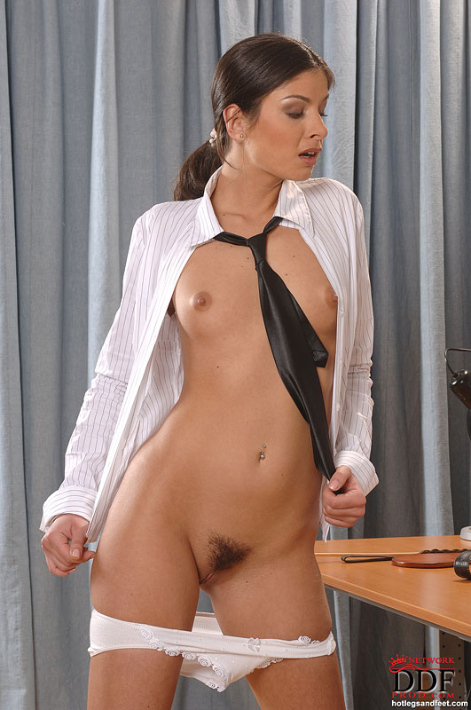 Hot secretary gets spanked and fucked