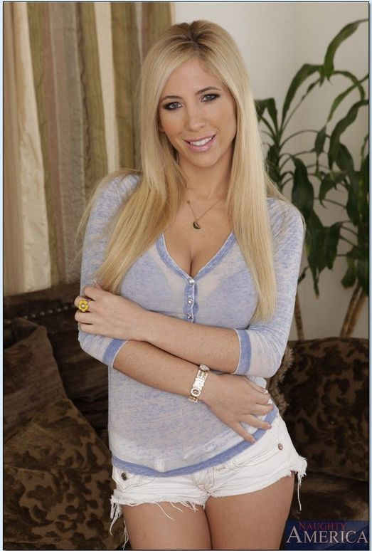 Hot blonde ex-gf Tasha Reign posing naked after removing ripped blue jeans  1909958