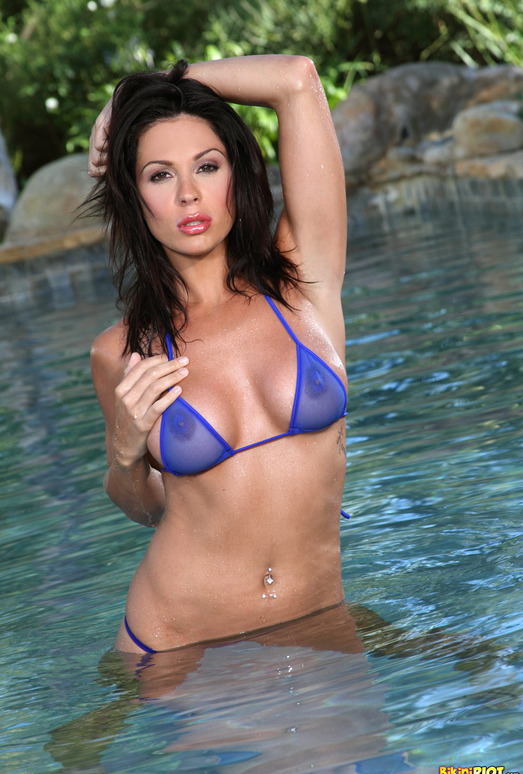 Kirsten Price - Sheer Blue G-string