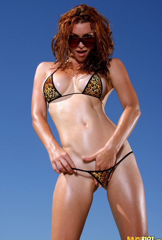 Heather Vandeven - Exotic Leopard G-string Bikini