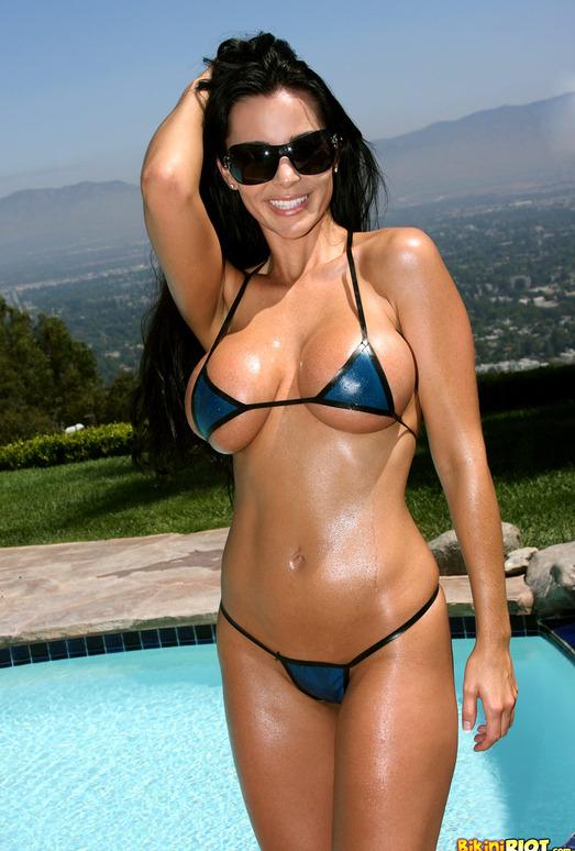 Laura Lee - Transparent Blue Latex Bikini
