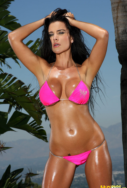 Laura Lee - Pink Scrunch Bottom Bikini