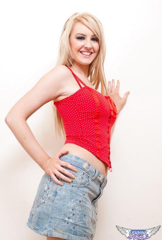 Katie K - In Red - SpunkyAngels