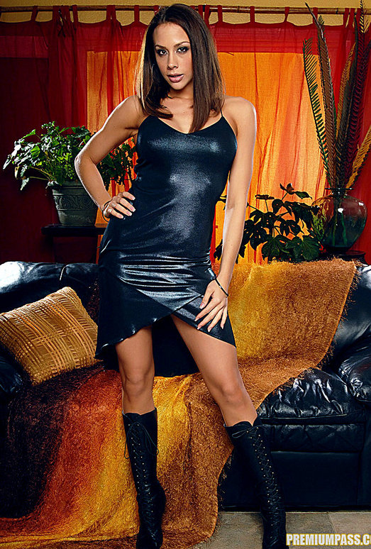 Chanel Preston - Black Dress and Wet Toys