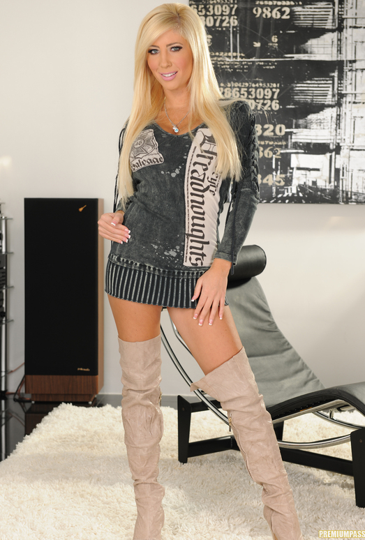 Tasha Reign Wearing Nothing but Thigh-High Boots