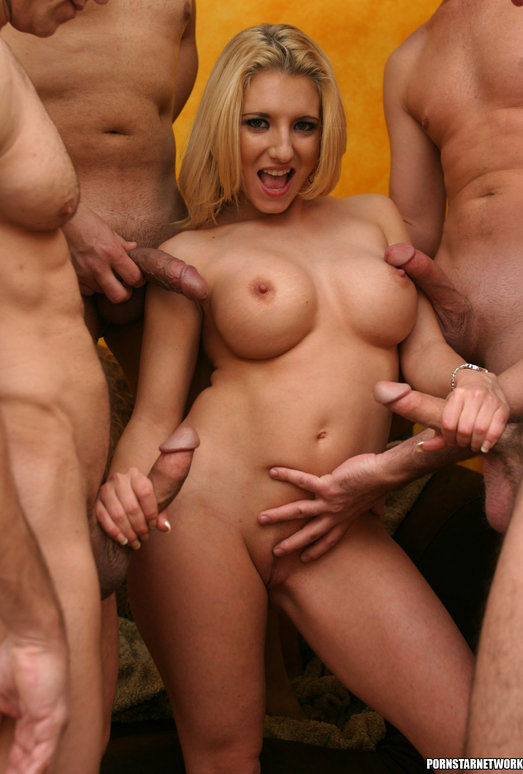 Busty Blonde Vivian West Swallows Cum