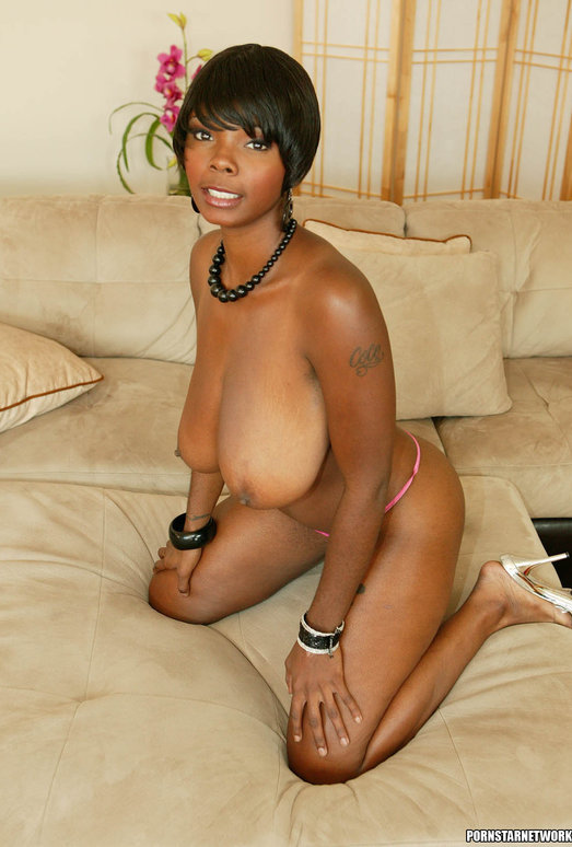 Ebony Stacy Adams Shows Off Her Big Natural Tits