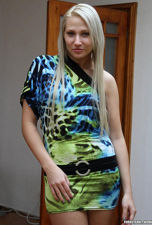 Viktoria Diamond Strips and Gives a POV Blowjob