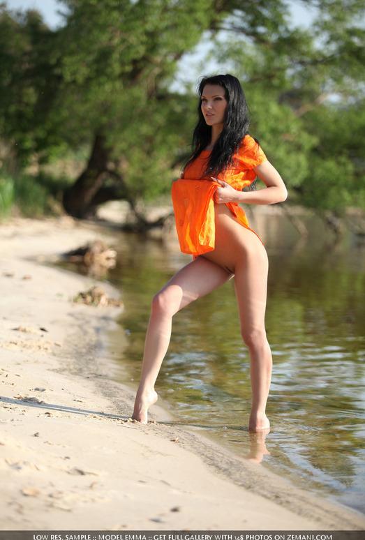 Orange blouse - Emma