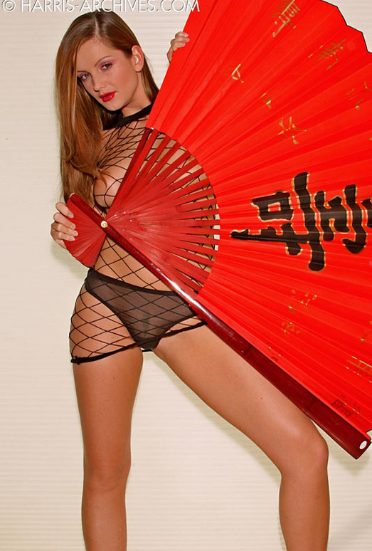 Sandra Shine - Red Fan