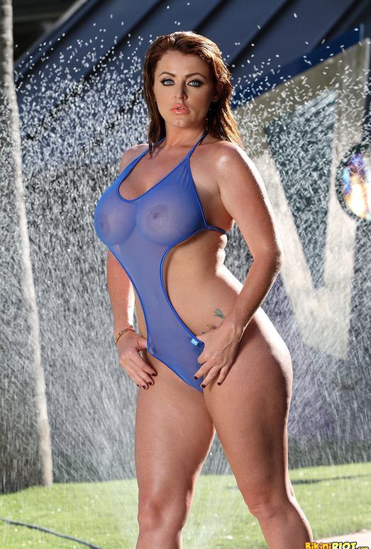 Sophie Dee - Sheer Blue Bodysuit