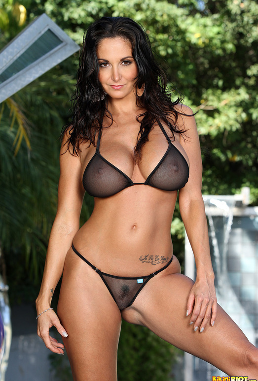 Ava Addams - Black Fishnet G-string