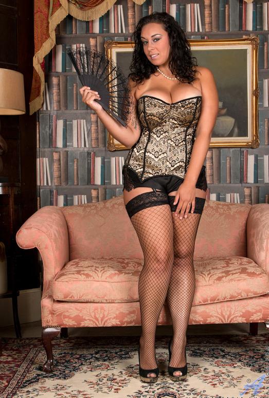 Anastasia Lux - Sexy Fishnet Stockings