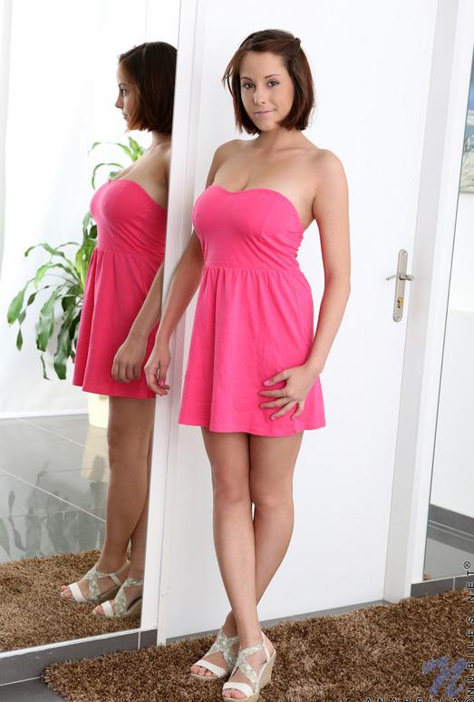 Anabella - pink dress & big teeny boobs