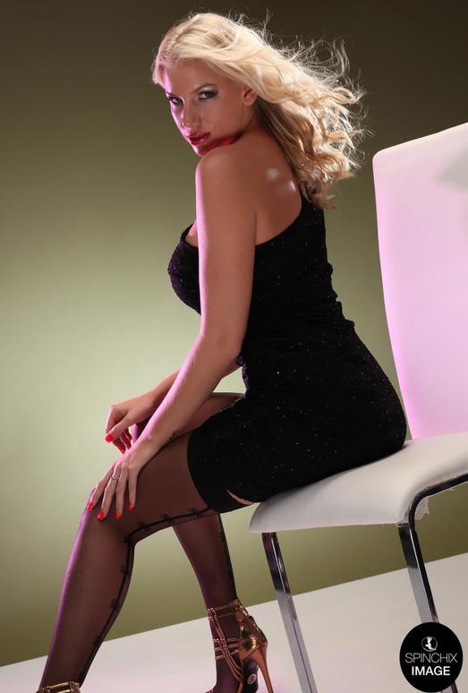 Ashley Black Dress - Spinchix