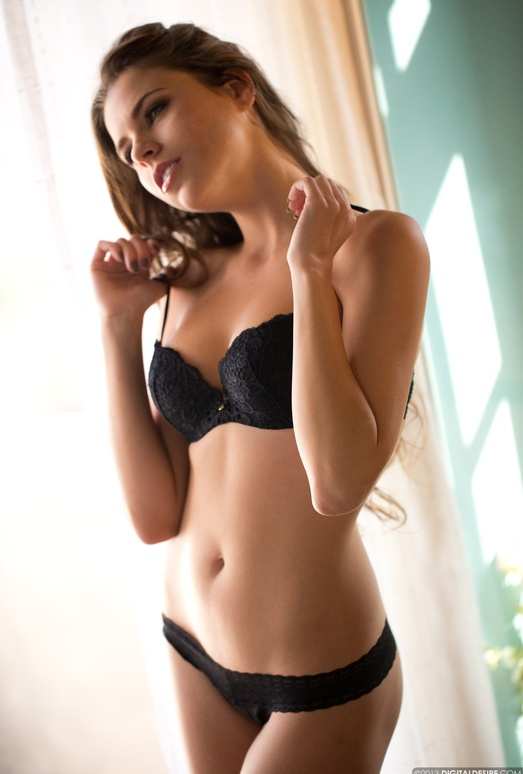 Valeria Strips Out Of Her Black Bra And Panties