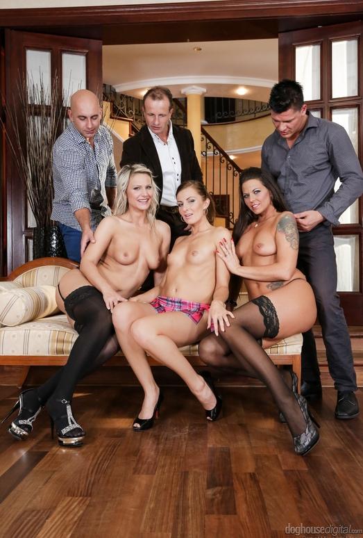 Samantha Jolie, Lara, Simony Diamond - Swingers Orgies #09