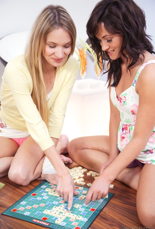 Tess, Angel Piaff - Letter Game - Girlsway
