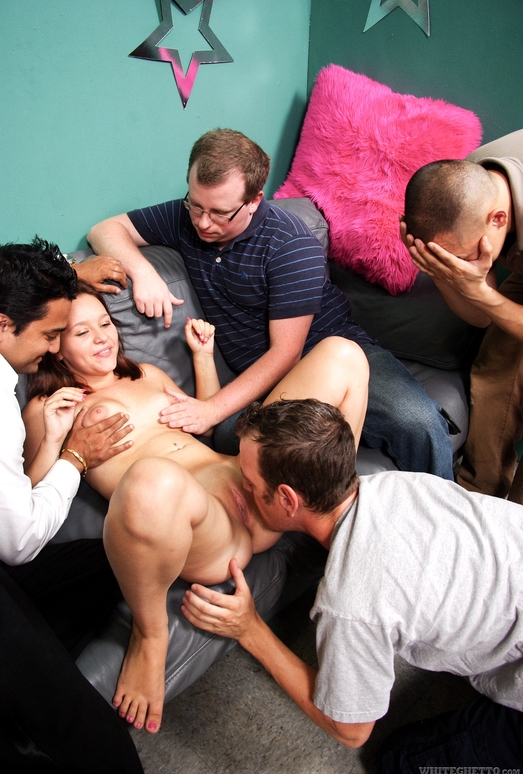 Kristy Shannon - Cuckold Gang Bang #04 - White Ghetto
