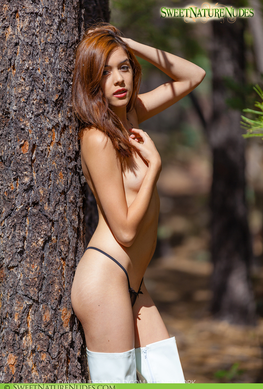 Boots in the Forest - Kristina Bell - Sweet Nature Nudes