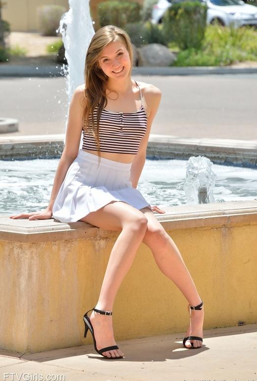 Eva - Her Miniskirt And Heels - FTV Girls