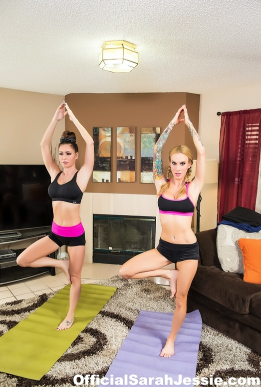 Yoga between special friends