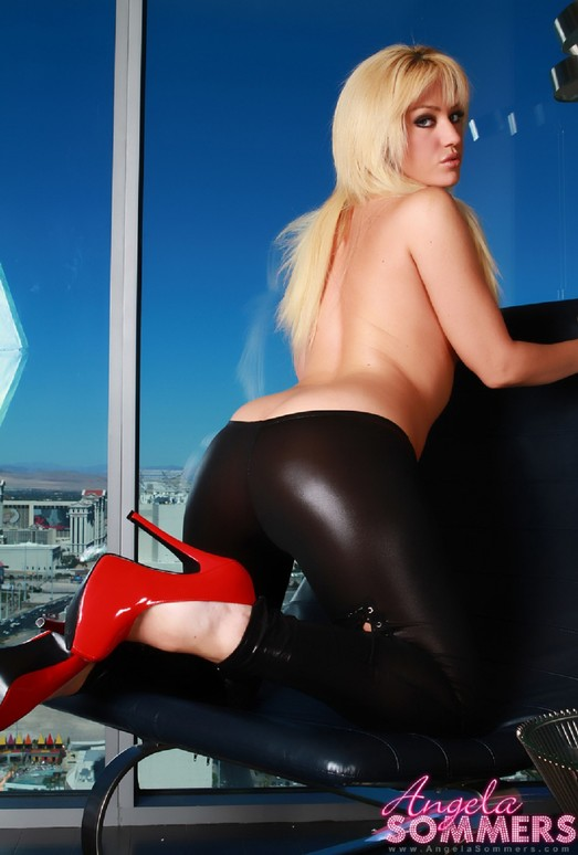 Angela Sommers - Black Leather Pants