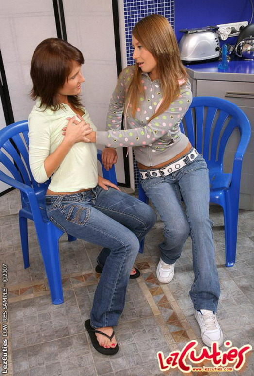 Lesbians Katia De Lys and Michelle drive huge dildos up each others asshole  1352598