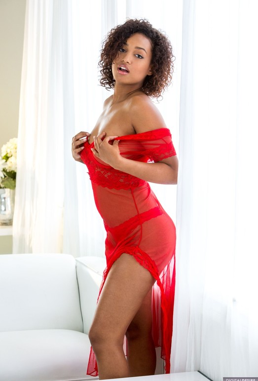 Noel Monique Strips Out Of Her Cute, Transparent Dress