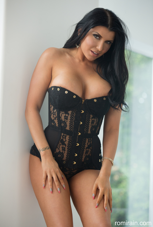 Romi Rain - Corset Strip-Down