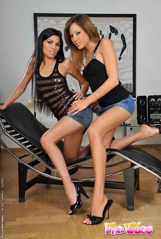 Lesbian Action with Anita Pearl and Pure Angel