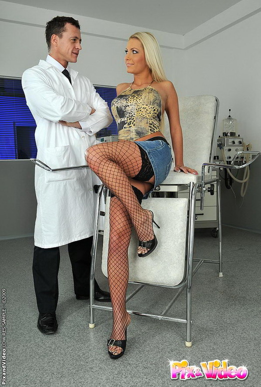 Adelle getting fucked by the doctor