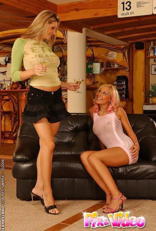Lesbian Sex with Caroline Cage & Adriana Russo