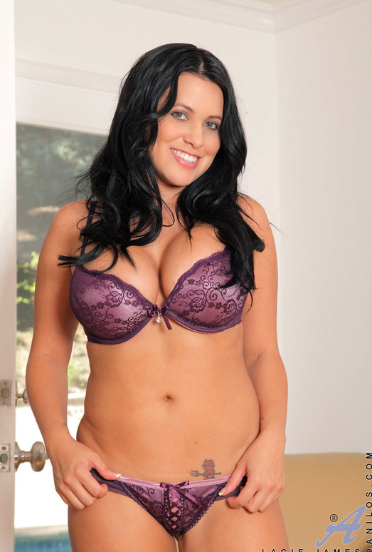 Lacie James - Purple Lingerie