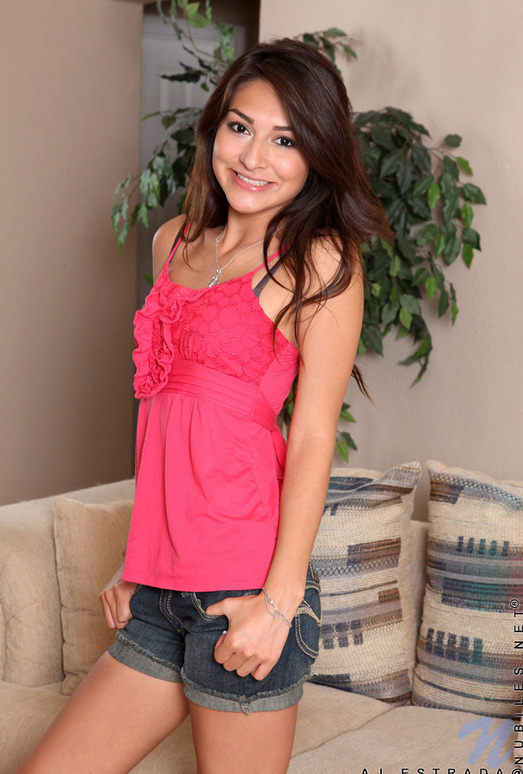 Aj Estrada - a brunette and her vibrator
