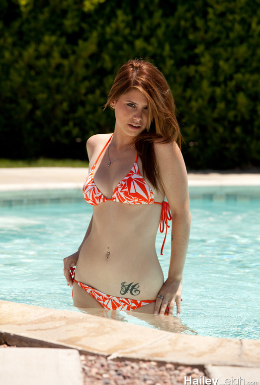 Hailey Leigh - Orange Bikini