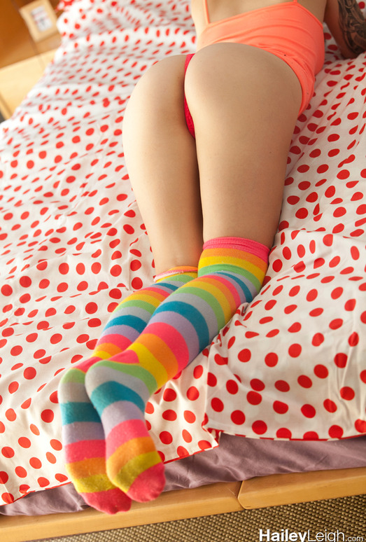 Hailey Leigh - Striped Socks