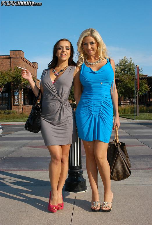 Foreign Foursome - Evita Pozzi & Liza Del Sierra