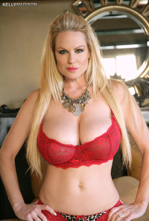 Red Lace Brassiere - Kelly Madison