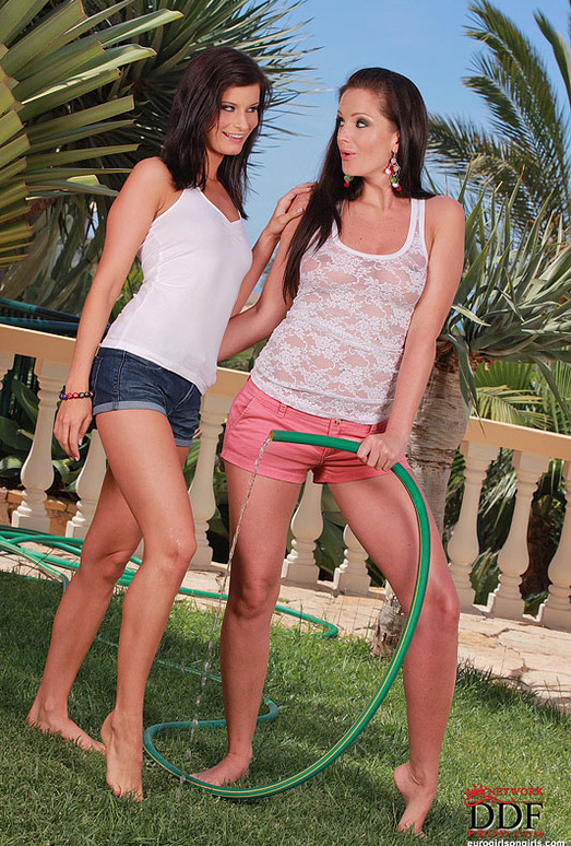 Megan & Sandra Shine - Euro Girls on Girls