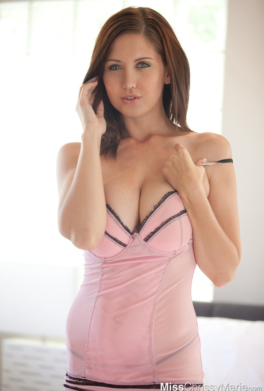 Chrissy Marie - Pink Lingerie
