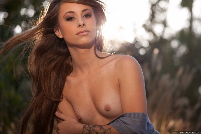 Riley Jensen Glistens In The Sunlight