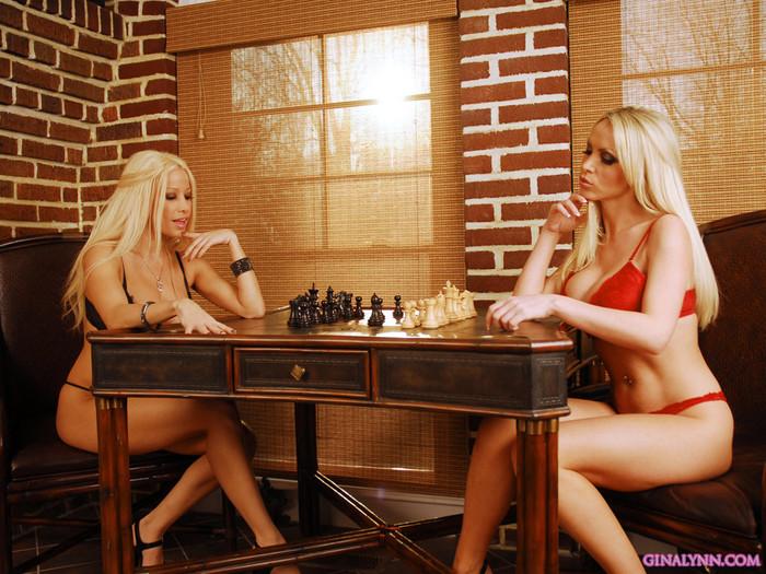Gina Lynn & Nikki Benz - chess game
